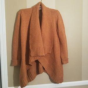 Merona Burnt Orange open cardigan sweater small